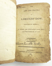 Load image into Gallery viewer, Lorenzo Dow Book Title Page