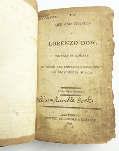 Lorenzo Dow Book Title Page