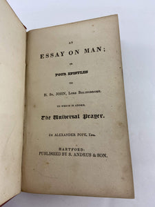 An Essay on Man in Four Epistles to Lord Bolingbroke, Alexander Pope Book 1805
