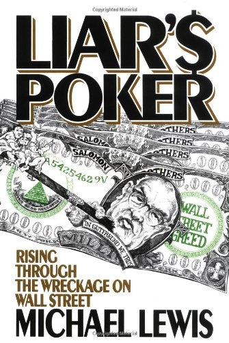 Liar's Poker, Michael Lewis, 1st Edition Hardcover Book, ISBN: 9780393027501