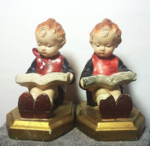 Load image into Gallery viewer, English Girl Bookends Chalkware