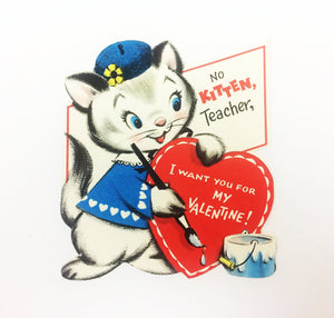 Kitten Teacher Valentine