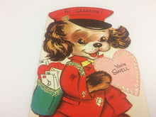 Load image into Gallery viewer, For Grandpa Vintage Puppy Valentine Card 5V223