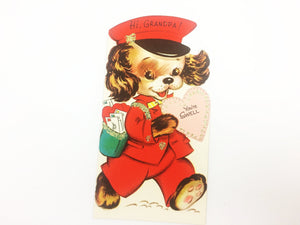 For Grandpa Vintage Puppy Valentine