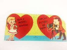 Load image into Gallery viewer, Model Photographer 1950s Valentine Vintage Greeting Card
