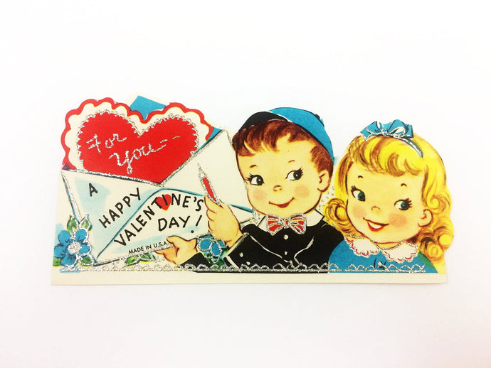 Vintage School Boy Valentine Card
