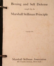 Load image into Gallery viewer, Boxing Self and Defense Taught by The Marshall Stillman Principle Book 1919 Hardcover