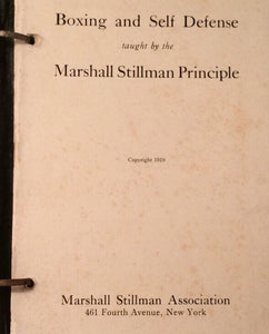 Boxing Self and Defense Taught by The Marshall Stillman Principle Book 1919 Hardcover