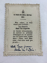 Load image into Gallery viewer, Adoration Of The Magi Vintage Holy Prayer Card, Lace,Boumard Paris