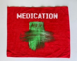 MEDICATION Rally Towel (Red)