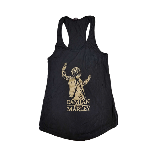 Damian Marley Gold Foil Women's Racerback Tank with pocket