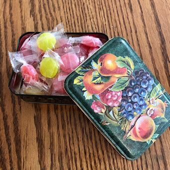 Assorted Fruit Hard Candy Tin