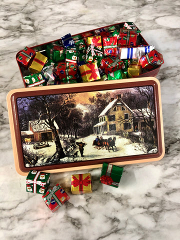 Currier & Ives Holiday Tin