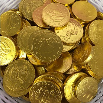 Gold Foiled Chocolate Coins