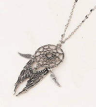Bohemia Vintage Dreamcatch Feather  Necklace