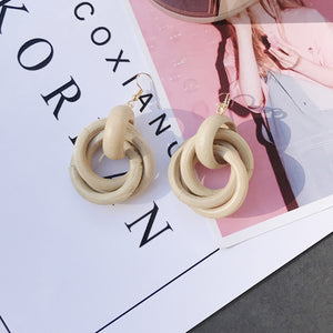 Mix Vintage Resin Acrylic Marble  Earrings