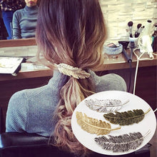 Fall Fashion - Leaf Shape Metal Hair Clips