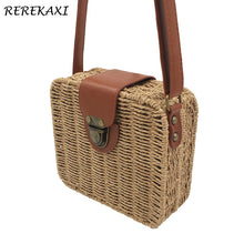 Candy Colour Straw Bag