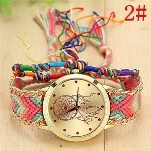 Handmade Braided Dreamcatcher Wristwatch
