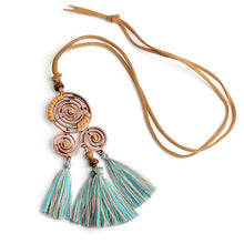 Spiral Tassels Necklace