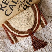 Straw Tassel Purse / Clutch