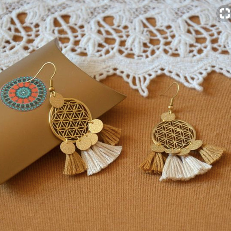 Sequins Bohemian Tassel Earrings