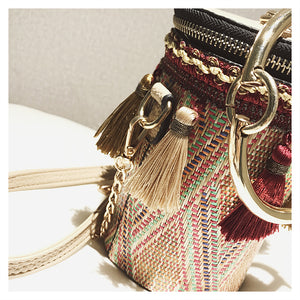 Stylish Straw Bucket Bag