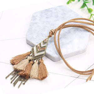 Bohemian Vintage Leather Necklace