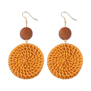 Classic Handmade Rattan Straw Earrings