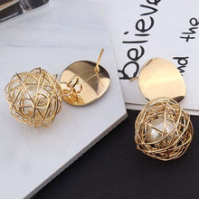 New Hollow Metal Ball  Earrings