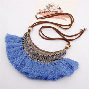 Retro Ethnic Bohemian Tassel Pendants Necklaces