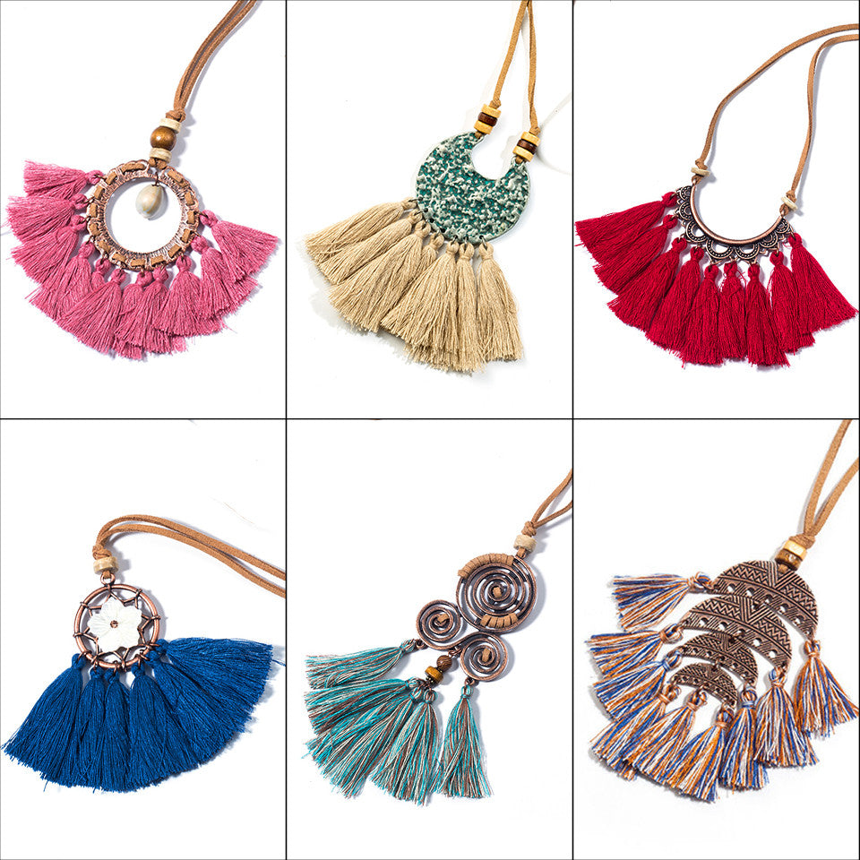 Vintage Bohemian Tassel Necklace
