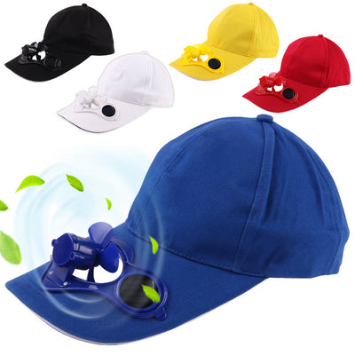 Hot Men Women Solar Power Sun Baseball Hats With Cooling Fan Summer Boys Girls Funny Caps Camping Traveling