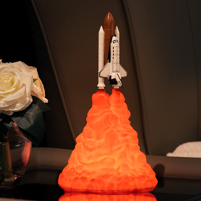 3D Print Space Shuttle Lamp  Rechargeable Night Lamp