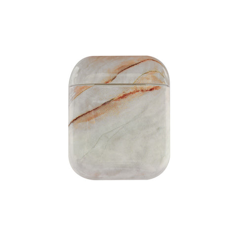 Earphone Case For Airpods 2 Case Luxury Marble Hard Headphone Case Protective Cover Accessories