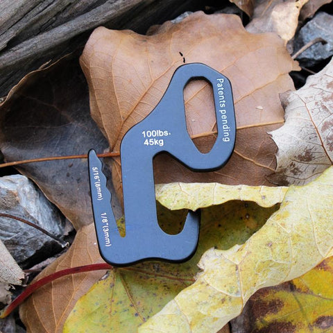 2pcs Tent Hook Aluminum Alloy 9 Shape
