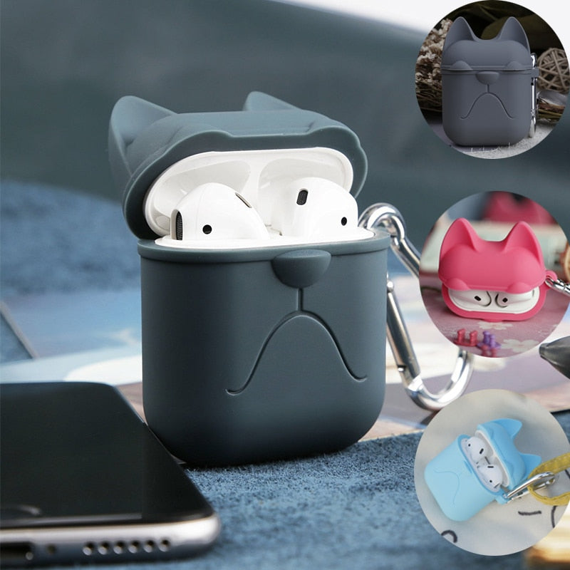 Newest Cartoon Earphone Silicone Case For Apple Airpods Accessories Protective Case Decoration Cover Pouch Earphone Case 3D Soft