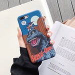 Godzilla Fashion soft Mobile Phone Case for iphone 6 6s 7 8 plus X XR XS MAX cover