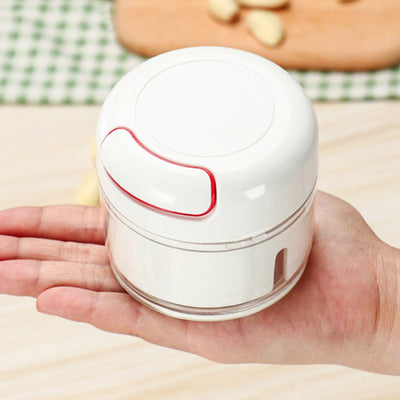 Mini stainless steel garlic press Portable manual chopper multi-function chopping machine