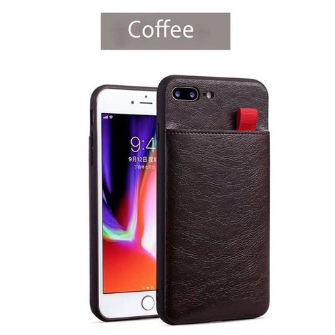 Leather Case for iPhone 7 6 6S 8 Plus Wallet Cases XS Max XR XS X Card Slot Pull Pouch Cover for Samsung S8 S9 Plus Note 8 9