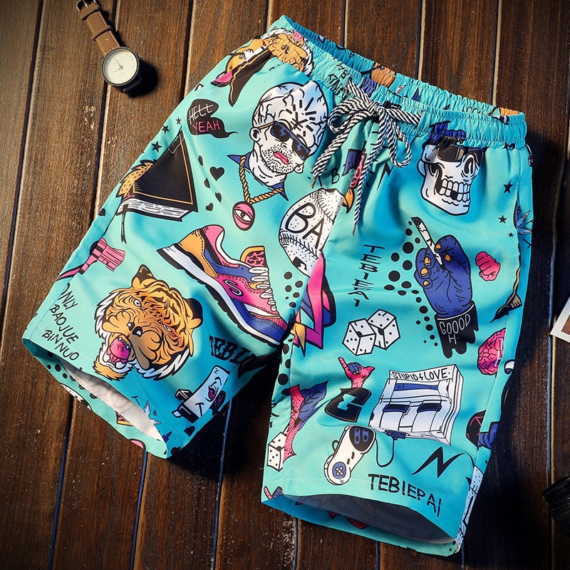 Men short 16 Style Shorts Men Summer Beachwear Print Quick Dry Short