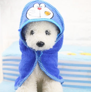 Puppy Dog Towel Drying Bathrobe Absorbent Shower Dog Bath Towel