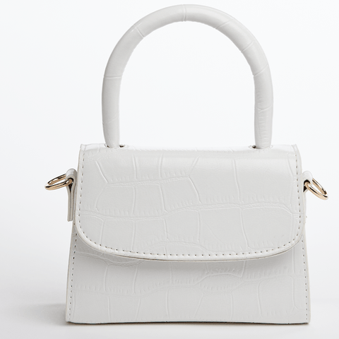 Saga Fur White Crossbody