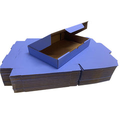 Blue Mailing Boxes 220 x 145 x 35mm Die Cut Shipping Packing Cardboard Box