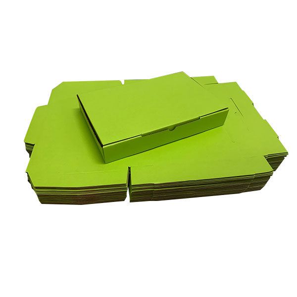 Green Mailing Boxes 220 x 145 x 35mm Die Cut Shipping Packing Cardboard Box