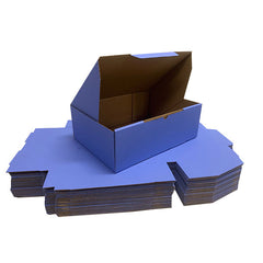 Blue Mailing Boxes 220 x 160 x 77mm Die Cut Shipping Packing Cardboard Box