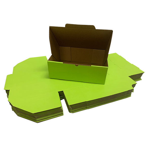 Green Mailing Boxes 220 x 160 x 77mm Die Cut Shipping Packing Cardboard Box