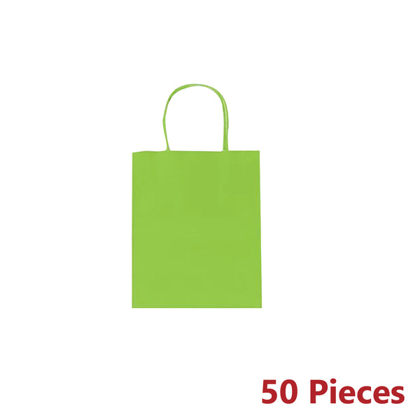 50pcs 220x280x110mm BULK CRAFT PAPER GIFT CARRY BAGS MEDIUM WITH PAPER HANDLES