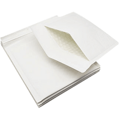 160mm x 230mm Bubble Padded Bag Mailer White Plain Kraft Cushioned Envelope