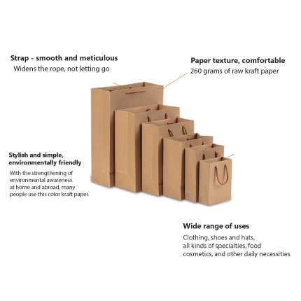 50x Premiums BROWN CRAFT PAPER GIFT